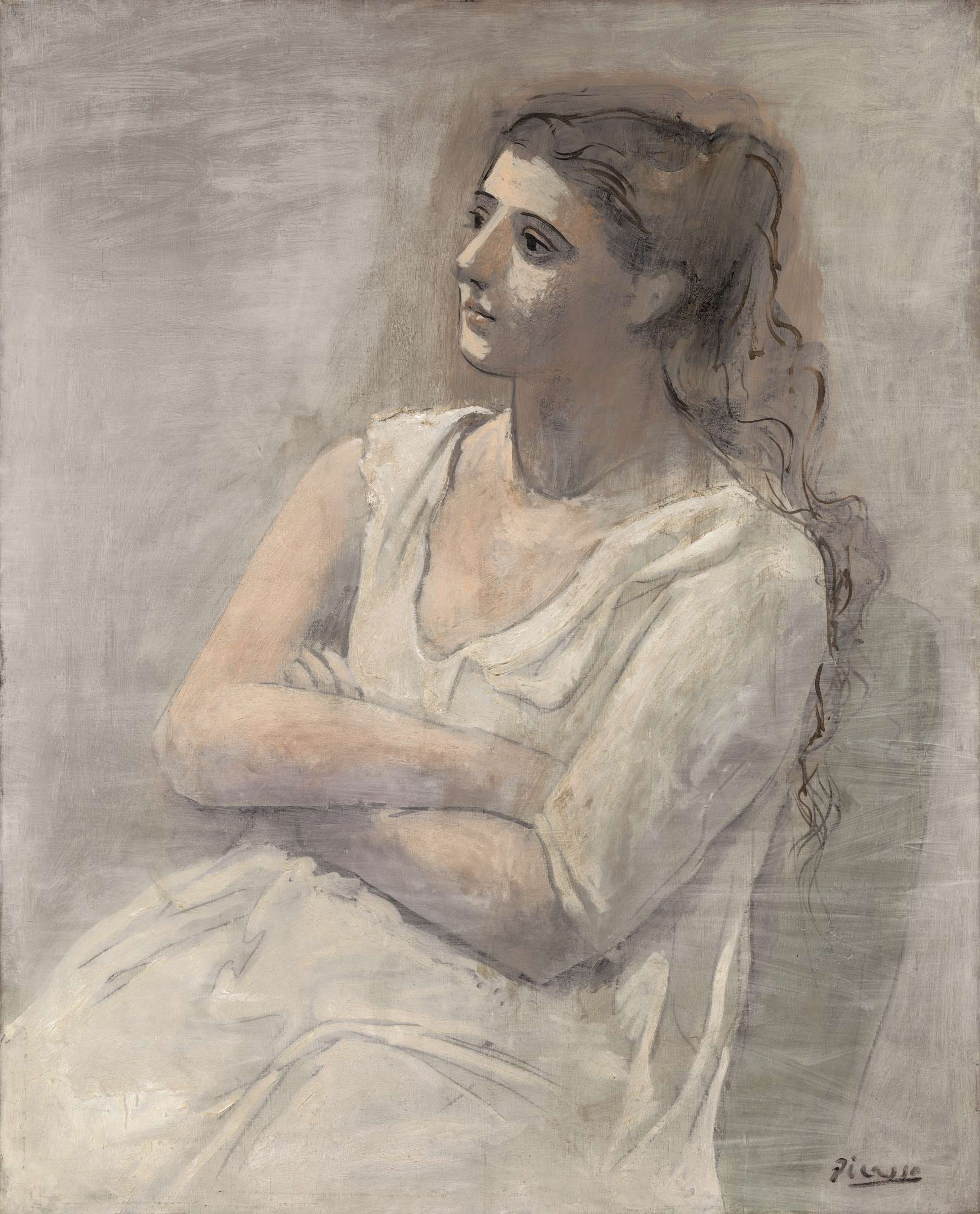 Pablo Picasso 1881 1973 Woman In White1923 Oil Water Based Paint And Crayon On Canvas The Metropolitan Museum Of Art New York